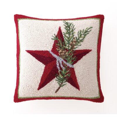 Star Hook Wool Throw Pillow