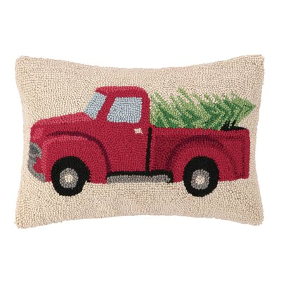 Renault Tree Haul Hook Wool Lumbar Pillow