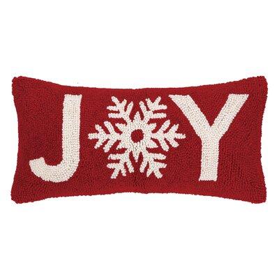 Snowflake Joy Hook Wool Throw Pillow