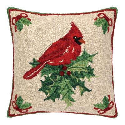 Cardinal Hook Wool Throw Pillow