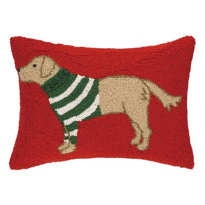 Sweater Lab Hook Wool Throw Pillow