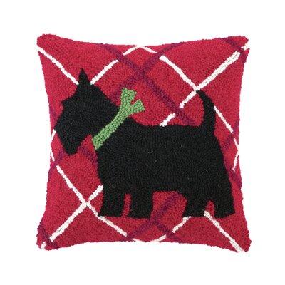 Scottish Terrier Hook Wool Throw Pillow