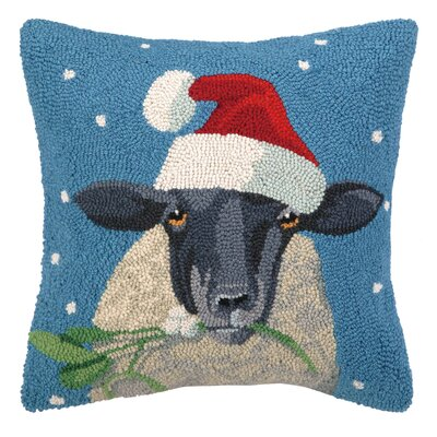 Sheep Hook Wool Throw Pillow