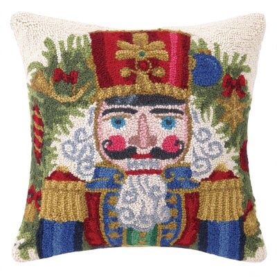 Nutcracker Throne Hook Wool Throw Pillow