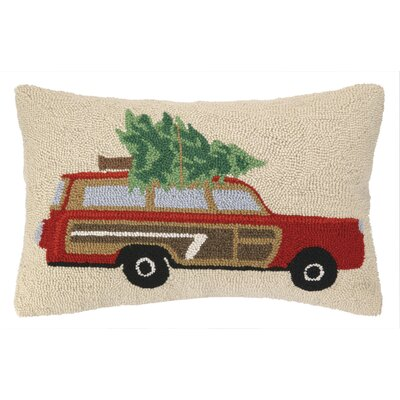 Station Wagon Tree Hook Wool Throw Pillow