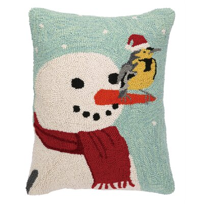 Western Meadowlark Hook Wool Throw Pillow