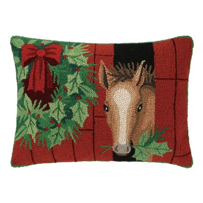 Foal Horse Hook Wool Throw Pillow