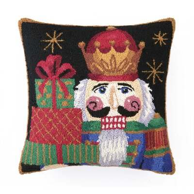Nutcracker with Presents Hook Wool Throw Pillow