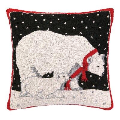 Polar Bear Hook Wool Throw Pillow