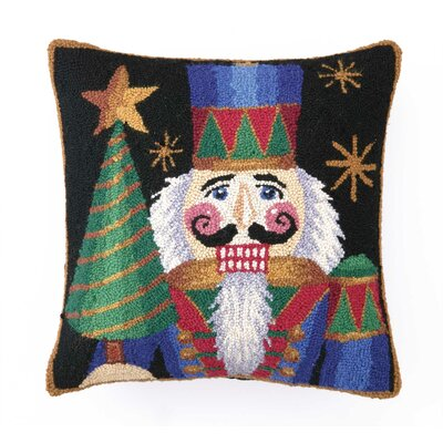 Nutcracker with Tree Hook Wool Throw Pillow