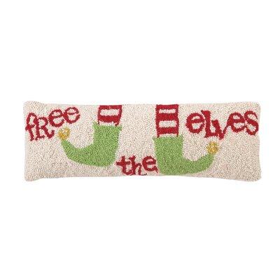 Free the Elves Hook Wool Throw Pillow