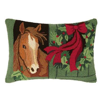Horse Snow Hook Wool Throw Pillow
