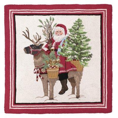 Santa Reindeer Hook Area Rug