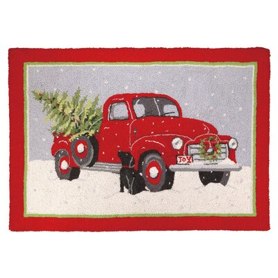 Christmas Truck Hook Area Rug