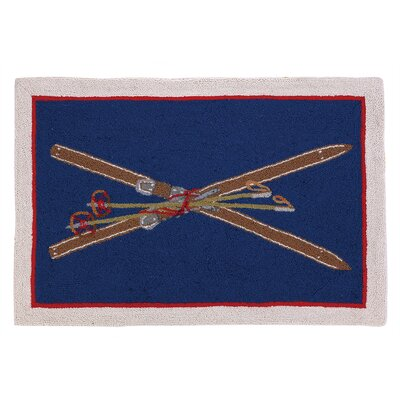 Crossed Skis Hook Area Rug