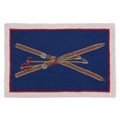 Crossed Skis Hook Area Rug
