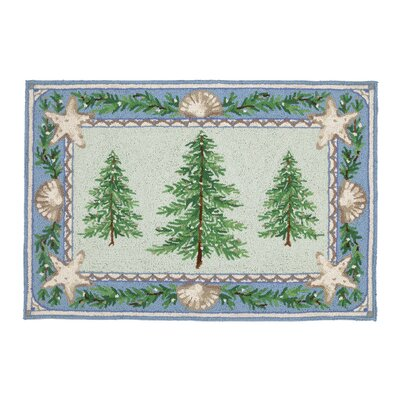 Beach Holiday Hook Area Rug
