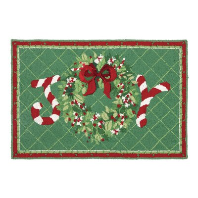 Joy Wreath Hook Area Rug