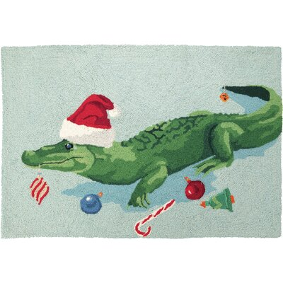 Christmas Gator Hook Area Rug