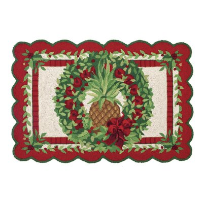 Fruit and Foliage Hook Area Rug
