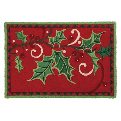 Berry Branch Hook Area Rug