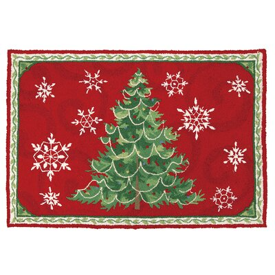 Christmas Snowflakes Hook Area Rug