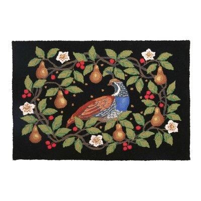 Partridge Pear Wreath Hook Area Rug