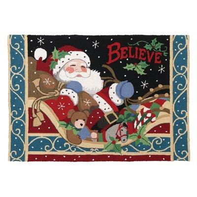 Christmas Believe Hook Area Rug