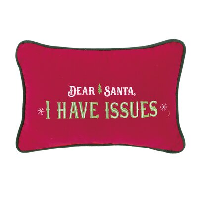 Dear Santa Lumbar Pillow