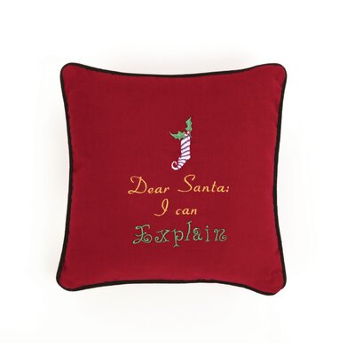 Dear Santa I Can Explain Throw Pillow