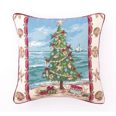 Beach Christmas I Needlepoint Throw Pillow