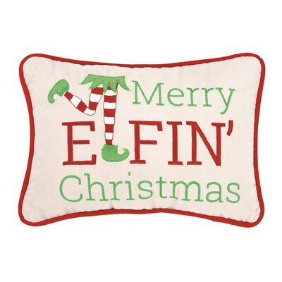 Merry Elfin Christmas Lumbar Pillow