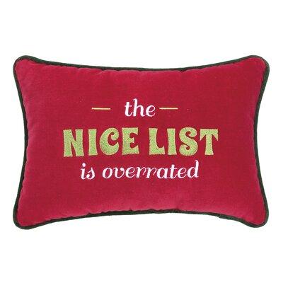 Nice List Lumbar Pillow