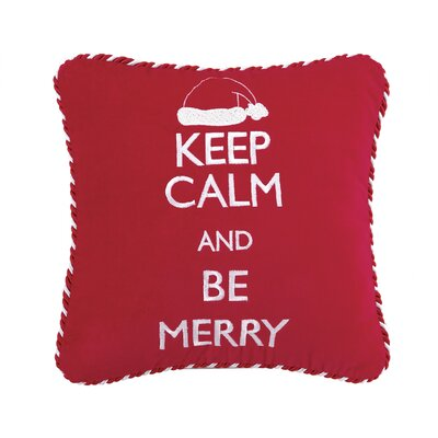 Keep Calm and Be Merry Throw Pillow