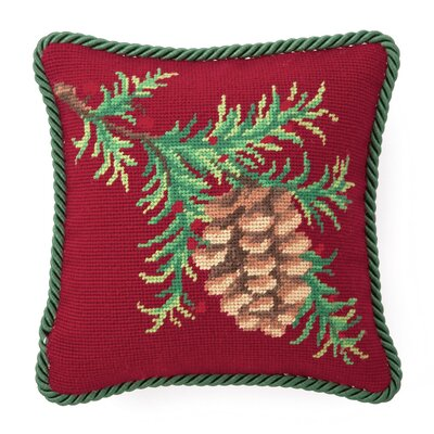 Balsam Needlepoint Throw Pillow