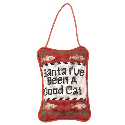 Santa Ive been A Good Cat Needlepoint Door Throw Pillow