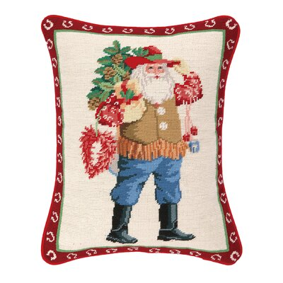 Caliente Santa Needlepoint Lumbar Pillow
