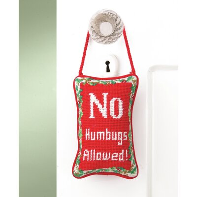 No Humbugs Needlepoint Door Throw Pillow