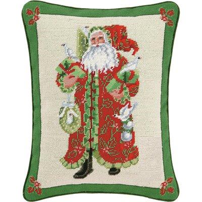 Holiday Tidings Needlepoint Lumbar Pillow
