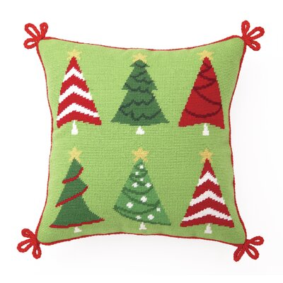 Trim A Tree Needlepoint Throw Pillow