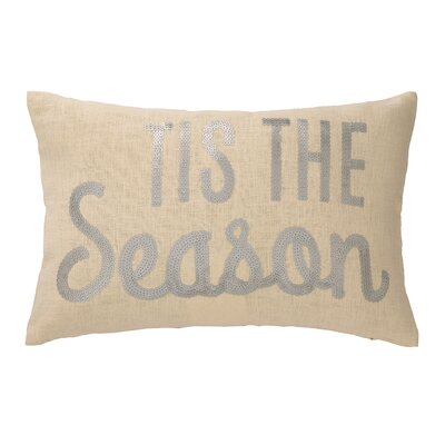 Tis The Season Sequins Lumbar Pillow