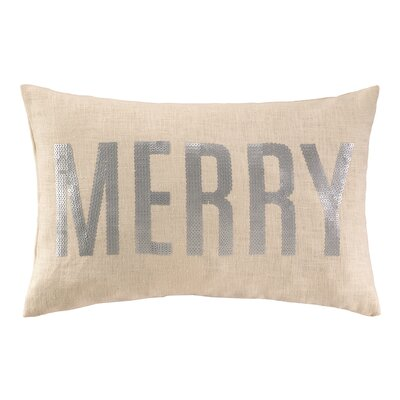 Merry Sequins Linen Lumbar Pillow
