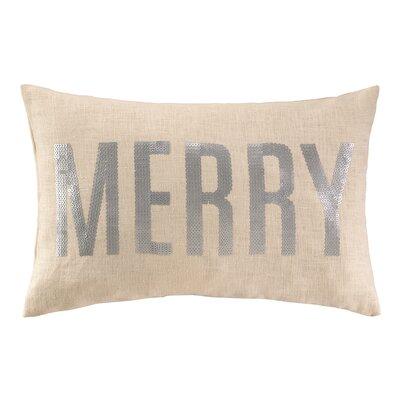 Merry Sequins Linen Lumbar Pillow
