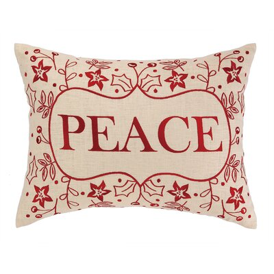 Peace Foliage Embroidery Linen Throw Pillow