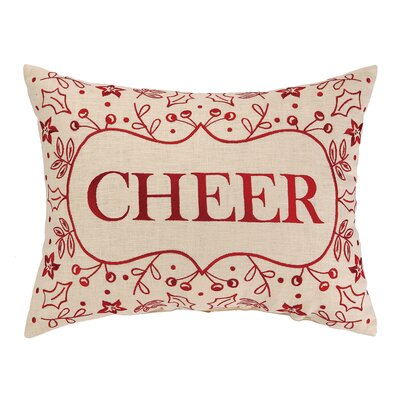 Cheer Foliage Embroidery Linen Throw Pillow