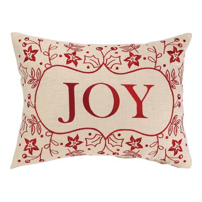 Joy Foliage Embroidery Linen Throw Pillow