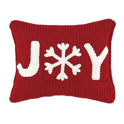 Joy Applique Cable Knit Throw Pillow