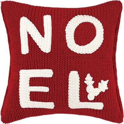 Noel Applique Cable Knit Throw Pillow