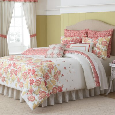 Modern Heirloom Garden View Reversible Comforter Set Size: Queen