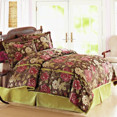 Modern Heirloom Ashby Roses 3 Piece Duvet Cover Set Size: Full